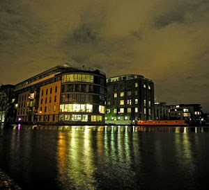 Erst ab Mitternacht gleicht Islingtons Süden einer Geisterstadt. Rund um das Londoner Canal Museum stehen Bürogebäude.