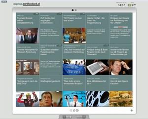Neues Interface für schnelle News: express.derStandard.at