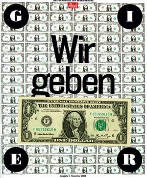 """Das Cover zu """"Gier""""."""