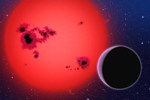 Die neu entdeckte Supererde auf dem Weg um ihre Sonne, gerade 42 Lichtjahre von der Erde entfernt (Illustration).