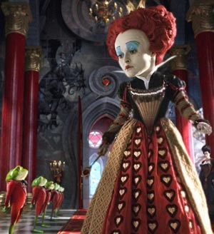 """Spaßfaktor in einem einfallslosen Film: Helena Bonham-Carter als rote Königin des """"Unterlands"""""""