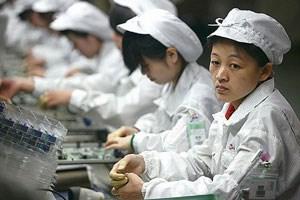 Artikelbild: Foxconn-Arbeiter sollen bis zu acht Stunden am Stück stehen müssen.  - Foto: Gizmodo