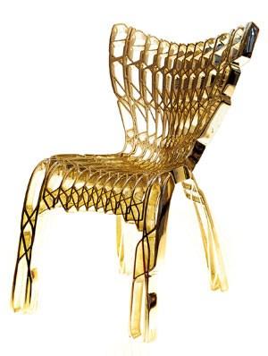 """Der Sessel """"CoReFab#116"""" des Architekten und Designers Ammar Eloueini wurde durch eine spezielle Technik dreidimensional ausgedruckt. Zu finden ist er in der permanenten Ausstellung des MoMA in New York."""