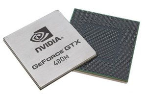 Nvidias neue mobile GPU Geforce GTX 480M.