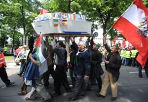 Auch in Wien kam es am Freitag zu Demonstrationen.