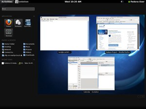 Gnome Shell in neuem Fedora 13.