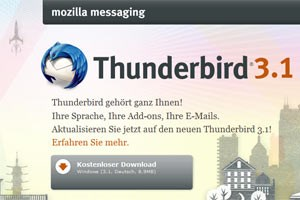 Thunderbird 3.1 in neuer Version erschienen