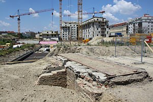 Bis voraussichtlich Ende Juli muss die Stadtarchäologie ihre Arbeit abgeschlossen haben