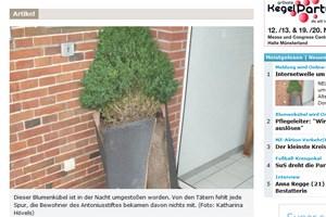 Der Screenshot von der Münster'schen Zeitung, die Originalmeldung gibt's hier.