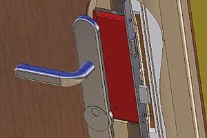 Sicherheitsbeschlag und Zylinder sind wichtige Bestandteile, um eine Türe vor Einbrechern zu schützen.