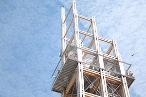 Das Bahnorama ist der höchste begehbare Holzturm Europas.