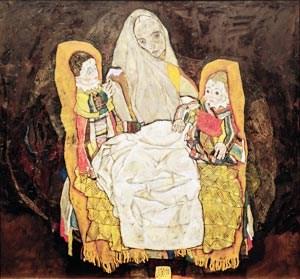 """Eine Ausfuhr wäre untersagt worden: Egon Schieles """"Mutter mit zwei Kindern III""""."""