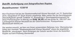 Angeklagter Faulmann erhielt die Zahlungsaufforderung inzwischen auch schriftlich.