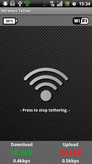 Android-Wifi-Tether erlaubt das Teilen der Internet-Verbindung mit anderen Geräten - unabhängig von der eingesetzten Firmware-Version.