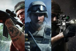 """Call of Duty: Black Ops"", ""Battlefield Bad Company"", ""Medal of Honor"""