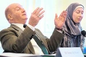 """Schakfeh, Chef der Islamischen Glaubensgemeinschaft, mit Sprecherin Baghajati: """"Wir erwarten eine Verdoppelung der Anzahl."""""""