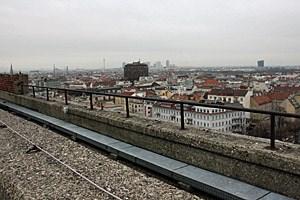 Blick vom Flakturm auf Wien.