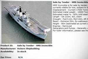 Die HMS zum Verkauf