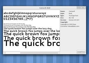Der neue Desktop-Font Cantarell.