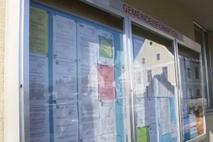 Gemeindeinformation in Fohnsdorf. Von der Einsetzung des Regierungskommissärs war dort nichts zu lesen.