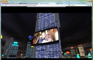 """WebGL ist eine weitere neue Technologie im Firefox 4, sie erlaubt die Darstellung von 3D-Grafiken im Browser, wie Mozilla anhand des """"Flight of the Navigator""""-Demos anschaulich demonstriert."""
