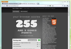 Wesentlich besser sieht es da schon mit der Unterstützung aktuelle Webstandards aus.