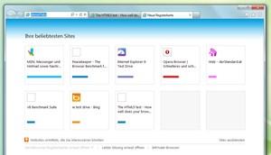 In neuen Tabs werden nun die beliebtesten Seiten gelistet, ähnlich wie es andere Browser auch schon implementiert haben.