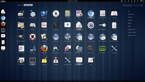 Die Anwendungsübersicht setzt auf große Icons.