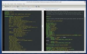 Der Text-Editor Gedit kann nun mehrere Dateien nebeneinander bearbeiten.