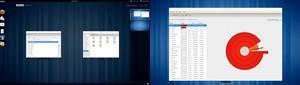 Bei der Nutzung mehrerer Monitore wird das Overlay nur auf dem ersten Display eingeblendet, auch sind dann die Workspaces immer fix im Bild.