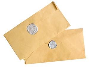 Der Brief aus dem Frantzén/ Lindeberg in Stockholm und die Kopie aus dem Taubenkobel in Schützen am Gebirge.
