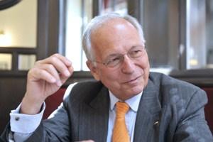 Der Vorsitzende der Münchner Sicherheitskonferenz Wolfgang Ischinger war am Mittwoch für einen Vortrag bei der Außenpolitischen Gesellschaft in Wien zu Besuch.