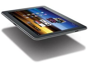 Das Samsung Galaxy Tab 10.1 gefällt mit schlanken Abmaßen und - relativ - geringem Gewicht.