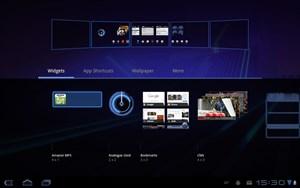 Die fünf Home Screens lassen sich komfortabel administrieren.