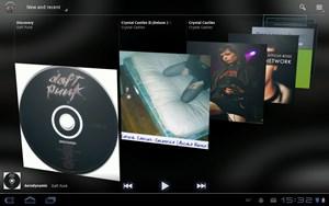 Die Musikanwendung wurde für Android 3.0 grundlegend neu gestaltet.