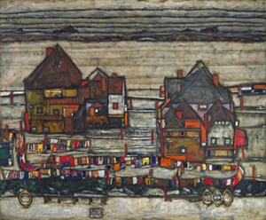 """Schieles """"Häuser mit bunter Wäsche"""" (ehem. Leopold Museum) wechselte für 27,6 Mio. Euro in eine anonyme Sammlung."""