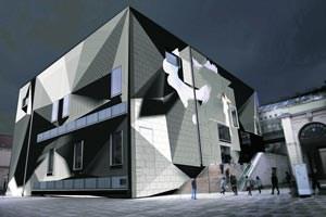 Ein hell leuchtendes Geburtstagsgeschenk: Das Leopold-Museum öffnet mithilfe der Bremer Künstlergruppe Urbanscreen seine Wände.