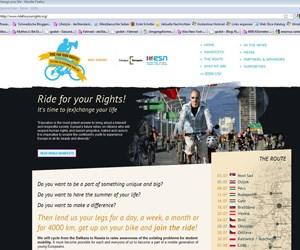 Für die Förderung von Studentenmobilität unterschreiben kann man auf www.rideforyourrights.org. Das Ergebnis wird der EU-Kommission und nationalen Instanzen der Bildungspolitik vorgelegt.