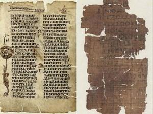 Diese Handschriften sind Teil des Lukasevangeliums. Sie wurden 1883 in Mittelägypten gefunden, auseinander gerissen und blatt- oder lagenweise an Händler und Durchreisende verkauft.
