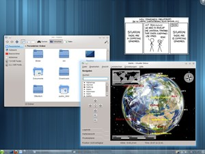 Der Linux-Desktop KDE 4.7, hier im Beispiel mit dem KDE:Unstable-Repository auf openSUSE 11.4 installiert.