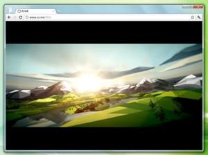 """WebGL ist eine jener noch relativ junger Technologien, die der Chrome bereits unterstützt, im Bild das interaktive Musikvideo """"3 Dreams of Black""""."""