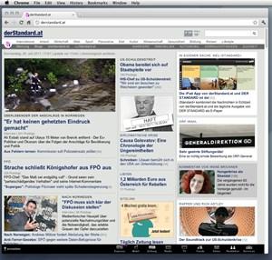Google Chrome wird plattformübergreifend und als Open Source entwickelt. Im Bild die Mac-Version der Software.