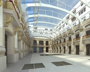 Bis 2013 sollen Festsaal, Fassade und Stiegenhaus originalgetreu renoviert werden - die Arbeiten dafür haben im heurigen Juni begonnen.