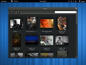 GNOME Photos derzeit nur als Mockups existieren.