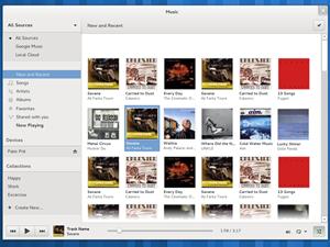während GNOME Music und...