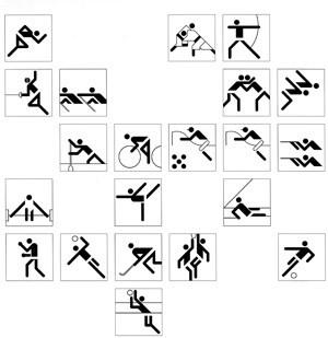 Piktogramme für Olympia 1972.