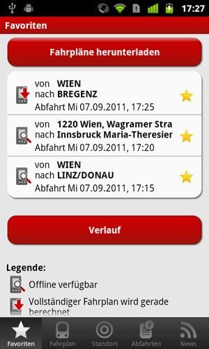 Unter Android können Verbindungen offline am Telefon gespeichert und in den Kalender übernommen werden.