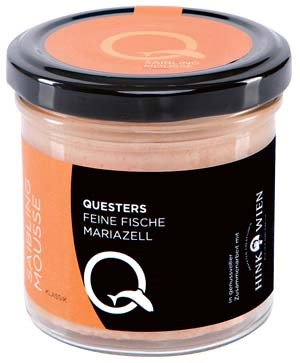 Quester Saibling-Mousse bei Merkur, Spar Gourmet und bei Quester in Mariazell. www.questers.at