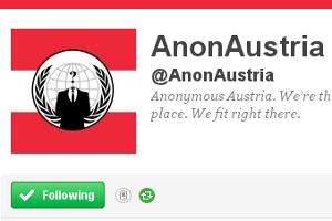 Anonymous Austria auf Twitter