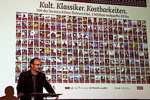 """200 DVDs oder 353 Stunden oder 291 Filme: Herausgeber Georg Hoanzl und die DVD-Edition """"Der österreichische Film""""."""